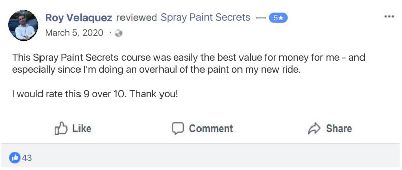 Spray Paint Secrets Customer Review